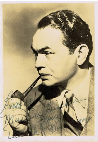 Edward G Robinson Autograph Signed Photo For Sale